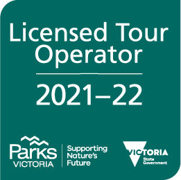 Licensed Tour Operator with Parks Victoria